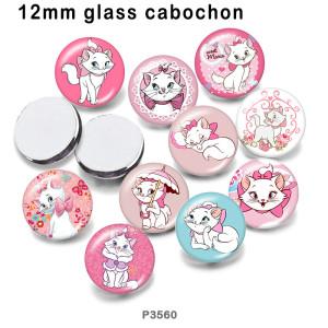 10 шт. / Лот, стеклянная продукция для печати изображений кошек различных размеров, магнит на холодильник, кабошон