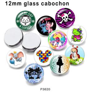 10 шт. / Лот мультфильм поцелуй стекло изображение полиграфическая продукция различных размеров магнит на холодильник кабошон