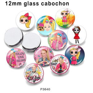 10 шт. / Лот для девочек, стеклянные изделия для печати изображений различных размеров, магнит на холодильник, кабошон