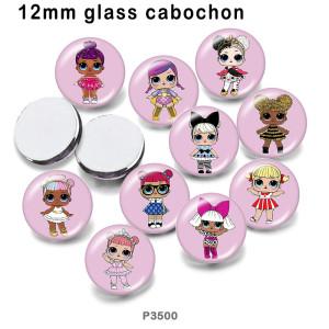 10 шт. / Лот, кукла, стеклянная фотография, полиграфическая продукция различных размеров, магнит на холодильник, кабошон