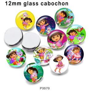 10 шт. / Лот кукла девушка стекло изображение полиграфическая продукция различных размеров магнит на холодильник кабошон