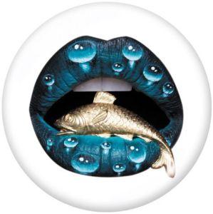 Lèvres Le support de téléphone portable Prises de téléphone peintes avec une base à motif imprimé noir ou blanc