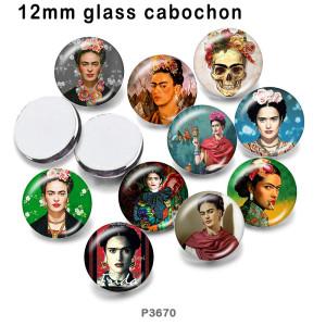 10 шт. / Лот, дизайнерские портретные стеклянные изделия для печати изображений различных размеров, магнит на холодильник, кабошон