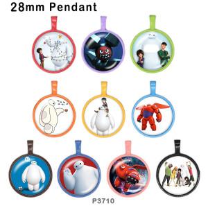 10 pcs/lot Cartoon Big produits d'impression d'image en verre blanc de différentes tailles Cabochon d'aimant de réfrigérateur