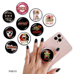 49 ERS Le support de téléphone portable Prises de téléphone peintes avec une base à motif imprimé noir ou blanc