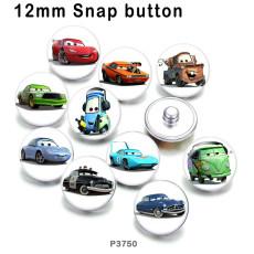 10pcs / lot Karikatur-Autoglasbilddruckprodukte von verschiedenen Größen Kühlschrankmagnet-Cabochon