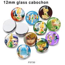 10pcs/lot  Elves   princess  glass picture printing products of various sizes  Fridge magnet cabochon