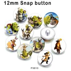 10pcs / lot Cartoon-Glasbilddruckprodukte in verschiedenen Größen Kühlschrankmagnet Cabochon