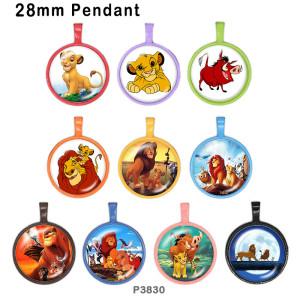 10 pcs/lot produits d'impression d'images en verre du monde animal de différentes tailles cabochon d'aimant de réfrigérateur