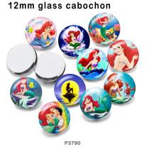 10pcs / lot Prinzessin Glasbilddruckprodukte in verschiedenen Größen Kühlschrankmagnet Cabochon