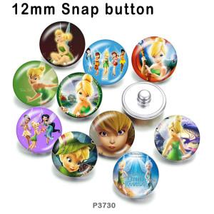 10 pcs/lot produits d'impression d'image en verre princesse elfes de différentes tailles cabochon d'aimant de réfrigérateur