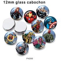 10 pcs/lot produits d'impression d'images en verre Marvel de différentes tailles cabochon d'aimant de réfrigérateur