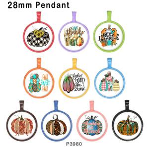10pcs / lot Weihnachtsglasbilddruckprodukte in verschiedenen Größen Kühlschrankmagnet Cabochon