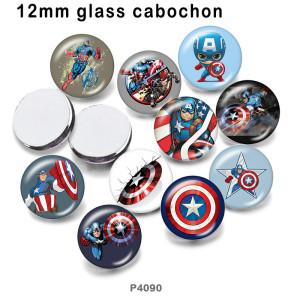 10pcs / lot Marvel Anime Heroes Glasbilddruckprodukte in verschiedenen Größen Kühlschrankmagnet Cabochon