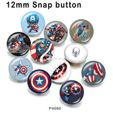 10pcs/lot  Marvel Anime Heroes  glass picture printing products of various sizes  Fridge magnet cabochon