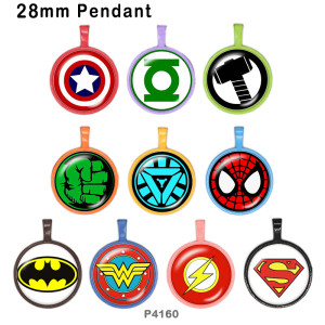 10pcs / lot Marvel-Glasbilddruckprodukte in verschiedenen Größen Kühlschrankmagnet Cabochon