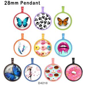 10 pcs/lot produits d'impression d'image en verre de bonbons papillon de différentes tailles cabochon d'aimant de réfrigérateur