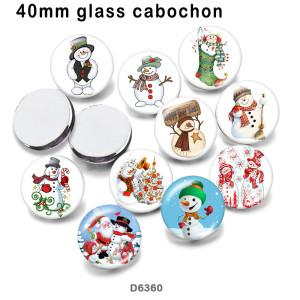 10pcs / lot 10pcs / lot Produits d'impression d'images en verre de bonhomme de neige de Noël de différentes tailles Cabochon d'aimant de réfrigérateur Produits d'impression d'images en verre de bonhomme de neige de différentes tailles Cabochon d'aimant de réfrigérateur