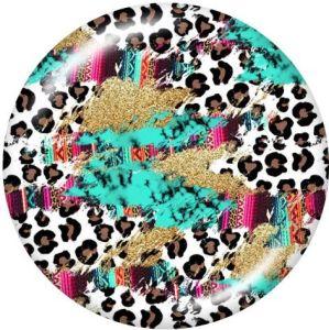 Leopard Le support de téléphone portable Prises de téléphone peintes avec une base à motif imprimé noir ou blanc