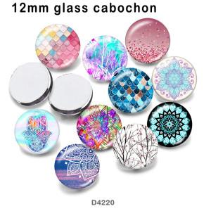 10 pcs/lot produits d'impression d'image en verre mandala de différentes tailles cabochon d'aimant de réfrigérateur