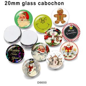 10pcs / lot Weihnachtsmann-Glasbilddruckprodukte in verschiedenen Größen Kühlschrankmagnet Cabochon