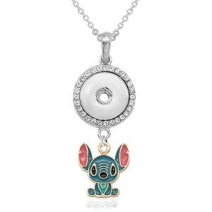 Stitch Cow Collier Avec accessoires argent fit 20MM morceaux 50CM chaîne s'enclenche bijoux