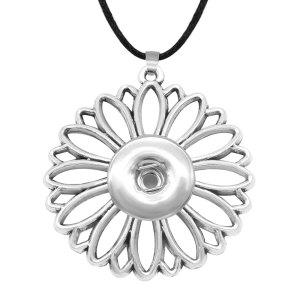 Blumenform Halskette Kette verstellbare Passform 20MM Brocken Druckknöpfe Schmuck Halskette für Frauen