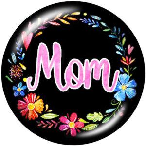 20MM MOm Nana GigiGigiプリントガラススナップボタン