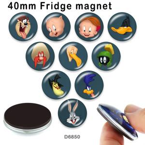 10pcs / lot Cartoon Kaninchen Ente Glasbild Druckprodukte in verschiedenen Größen Kühlschrankmagnet Cabochon
