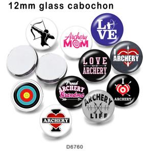 10 teile/los Ich liebe Bogenschießen Glasbilddruckprodukte in verschiedenen Größen Kühlschrankmagnet Cabochon