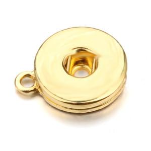 snap Argent doré rose or pistolet noir Alliage brillant Pendentif fit 20MM snaps style bijoux