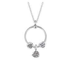 Nuevo conjunto de collar de círculo de acero inoxidable cadena 45CM
