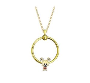 Nouvelle chaîne de collier cercle en acier inoxydable 45CM Plaqué or