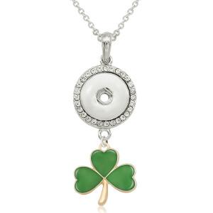Collier trèfle avec accessoires argent fit 20MM morceaux 50CM chaîne s'enclenche bijoux