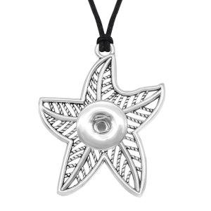 Chaîne de collier léopard étoile de mer réglable ajustement 20 MM morceaux s'enclenche bijoux