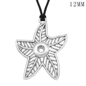 Chaîne de collier étoile de mer réglable en forme de morceaux de 12MM pour accrocher des bijoux
