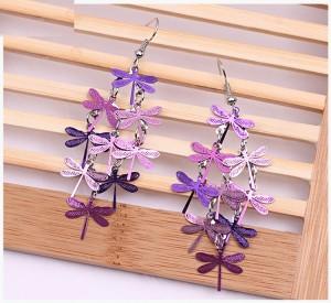 Boucles d'oreilles libellule personnalisées bijoux boucles d'oreilles neuf pièces colorées