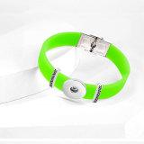 Bracelet bricolage réglable élastique en silicone en acier inoxydable pour des morceaux de boutons-pression de 20 mm