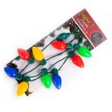 Weihnachten Halloween LED Licht Halskette Farbe Big Bulb Weihnachten Blub Halskette Licht Party Supplies
