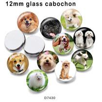 10個/ロットさまざまなサイズの犬用ガラス画像印刷製品冷蔵庫用マグネットカボション