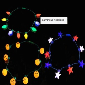 Christmas Halloween LED Light Necklace Color Big Bulb Christmas Blub Necklace Light Party Supplies