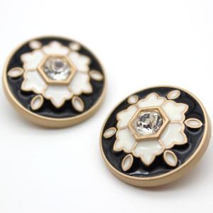 20MM perle goutte d'huile strass style magnifique design métal argenté breloques pression