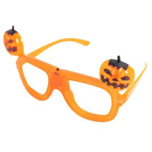 新製品ハロウィンLEDライトアップメガネ、ウエディングパーティー用の面白いカボチャメガネ、ハロウィンコスチューム