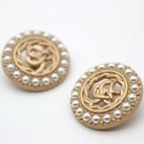 Encantos de broche chapados en plata de metal con diseño de diamantes de imitación de aceite de gota de perlas de 20 MM