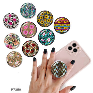 Leopard Der Handyhalter Lackierte Telefonsteckdosen mit schwarzem oder weißem Druckmusterboden