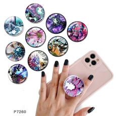 パターン 携帯電話ホルダー 黒または白のプリント パターン ベースの塗装済み電話ソケット