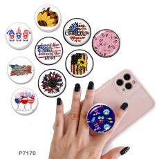 USAスポーツ携帯電話ホルダー黒または白のプリントパターンベースの塗装済み電話ソケット
