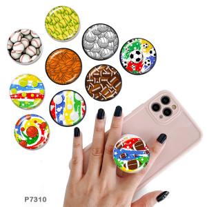 Ball Der Handyhalter Lackierte Telefonsteckdosen mit schwarzem oder weißem Druckmusterboden