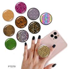 Leopard携帯電話ホルダー黒または白のプリントパターンベースの塗装済み電話ソケット