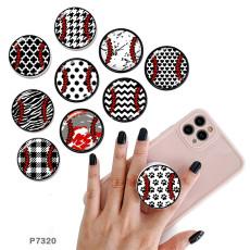 野球携帯電話ホルダー黒または白のプリントパターンベースの塗装済み電話ソケット